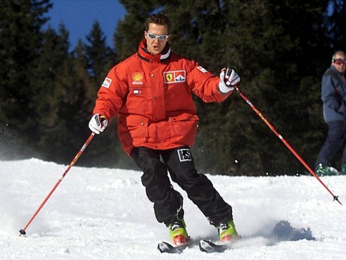 Michael Schumacher Skiing Wallpaper