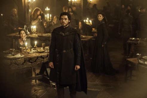 Oona Chaplin Richard Madden And Michelle Fairley In Game Of Thrones Episode The Rains Of Castamere
