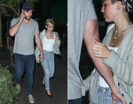Miley Cyrus Liam Hemsworth Hollywood And Liam Hemsworth
