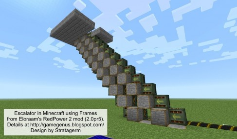 Escalator In Minecraft