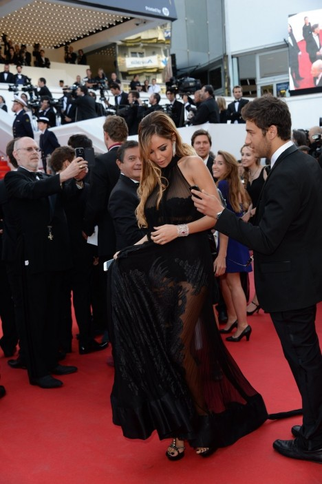 Nabilla Benattia At The Homesman Premiere At Cannes Film Festival