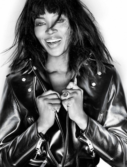 Naomi Campbell Black And White Photoshoot Movies