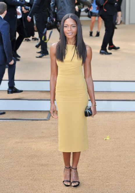 Naomie Harris At The Burberry Prorsum Fashion Show In London Fashion