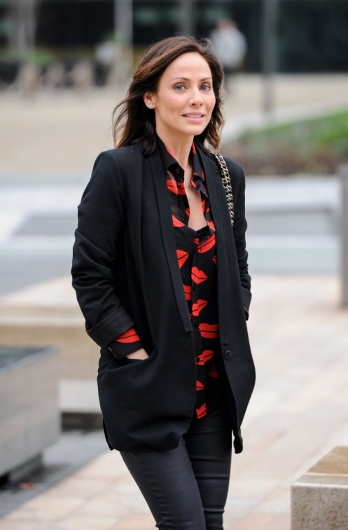 Natalie Imbruglia Arrives At Bb Breakfast Studios In Manchester
