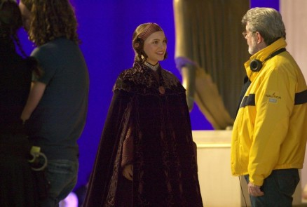 George Lucas And Natalie Portman In Star Wars Episode Iii Revenge Of The Sith Star Wars