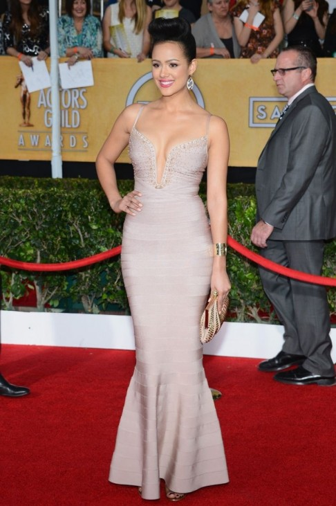 Nathalie Emmanuel At Sag Awards In Los Angeles