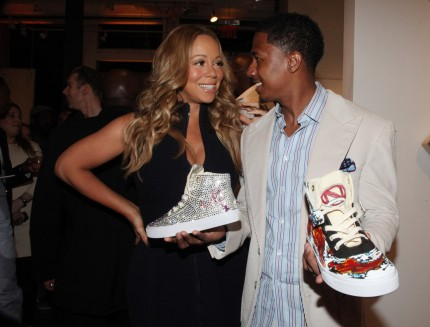 Mariah Carey Her Husband Nick Cannon Hit Town Nyc May Project Canvas Exhibition Art Gala