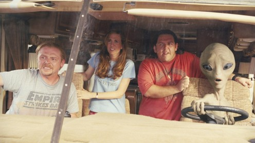 Still Of Nick Frost Simon Pegg And Kristen Wiig In Paul Large Picture Paul