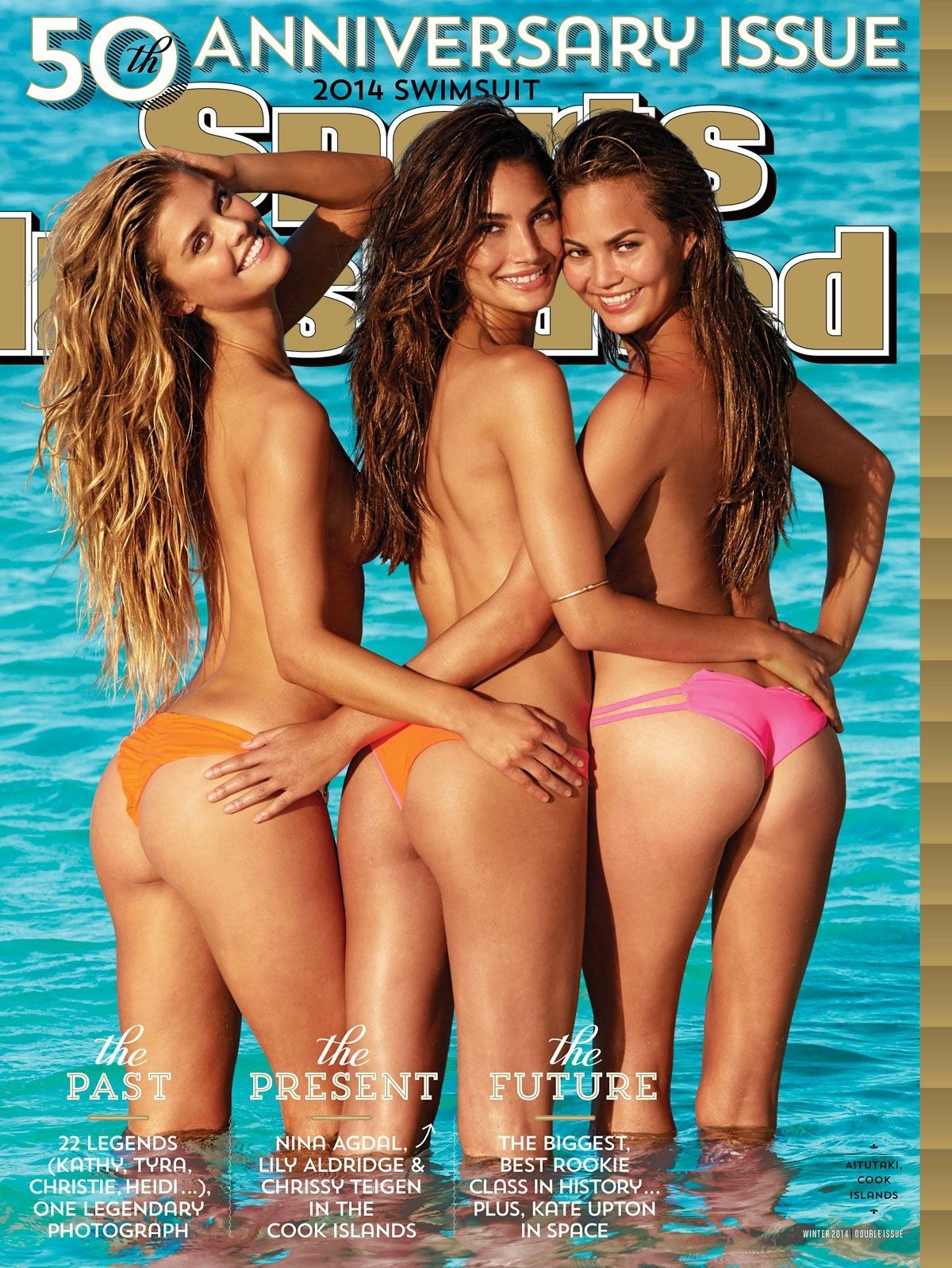 Nina Agdal Lily Aldridge And Chrissy Teigen On The Cover Of Sports Illustrated Swimsuit Cover Sports Illustrated