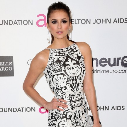 Nina Dobrev Oscar Party Dress Pictures Movies