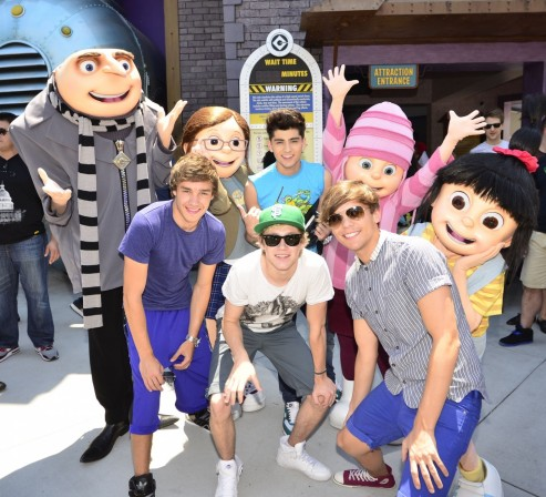 One Direction Visits Universal