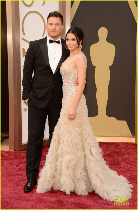 Jenna Dewan Nude Fairy On Oscars Red Carpet With Channing Tatum Red Carpet