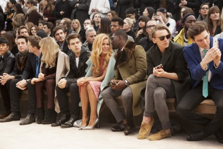 Nick Grimshaw George Barnett Suki Waterhouse James Righton Paloma Faith Tinie Tempah Jamie Campbell Bower And George Craig At The Burberry Prorsum Menswear Autumn Winter Show
