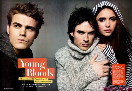 Celebutopia Netian Somerhalder Nina Dobrev Paul Wesleyrolling Stoneissue September Scanned By Kroqjockhq Fashion