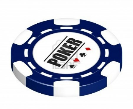 Someone Awesome Like Your Car Blue Poker Chip Isolated White Background Chips