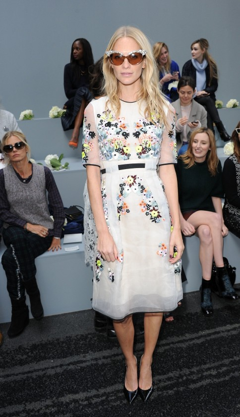 Poppy Delevingne Sported Some Shades Erdem Show London