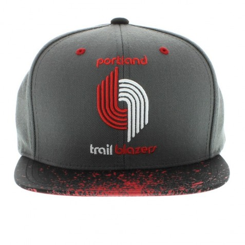 Portland Trailblazers Nba The Splatter Visor Snapback By Mitchell And Ness