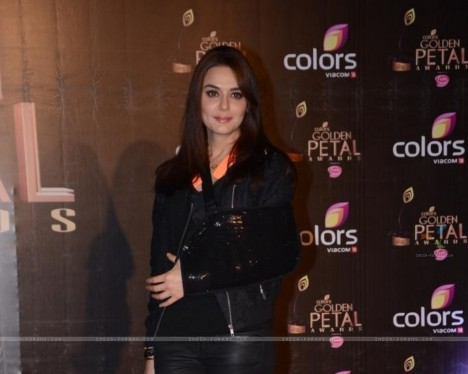 Preity Zinta Was Seen At The Colors Golden Petal Awards