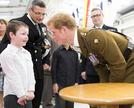 Prince Harry Leaned Chat Year Old Boy Who Gave Him Uniform