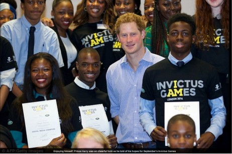Prince Harry Zimbabwean Youths