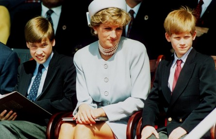 Princess Diana Sat Between Her Sons Prince William Prince Harry And William