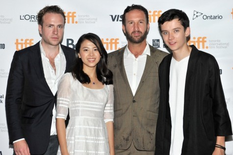 Rafe Spall Morgan Matthews Asa Butterfield And Jo Yang At Event Of Large Picture
