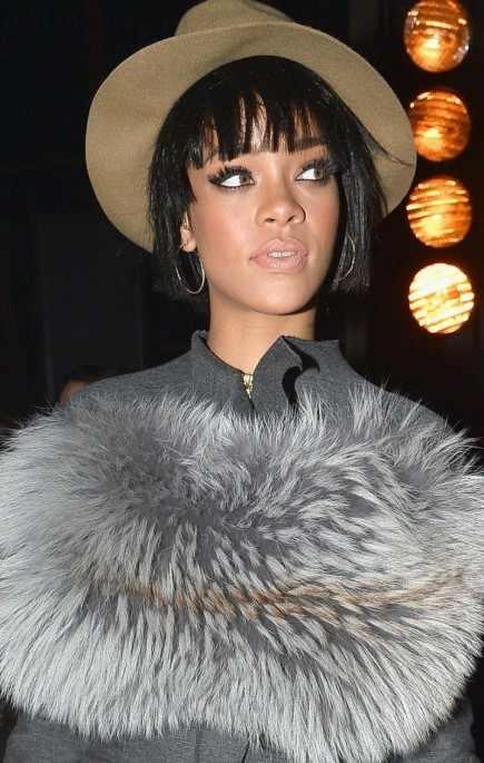 Rihanna At Lanvin Fall Winter Fashion Show In Paris