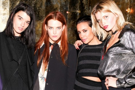 Hbz Miu Miu After Party Fw Abbey Lee Kershaw Mirtha Michelle Riley Keough Crystal Renn