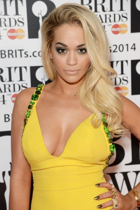 Rita Ora At The Brit Awards In London