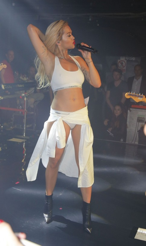 Rita Ora Performa At Nightclub In London