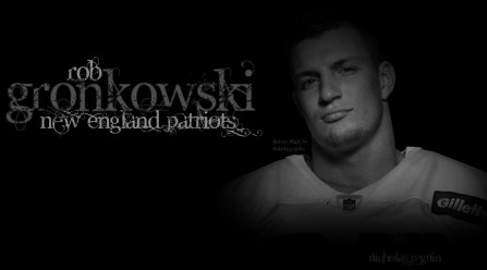 Rob Gronkowski Black And White Background By Fbgnep Other Sport