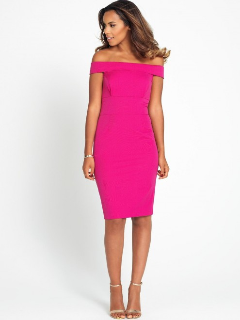 Rochelle Humes Off The Shoulder Pencil Dress Standard