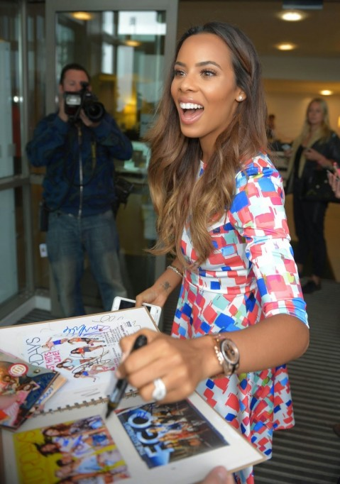 Rochelle Humes The Saturdays Bbc Media City Hotel In Manchester Beach