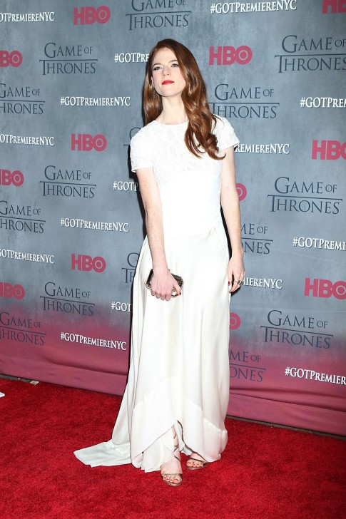 Rose Leslie At Game Of Thrones Season Premiere Game Of Thrones Cave