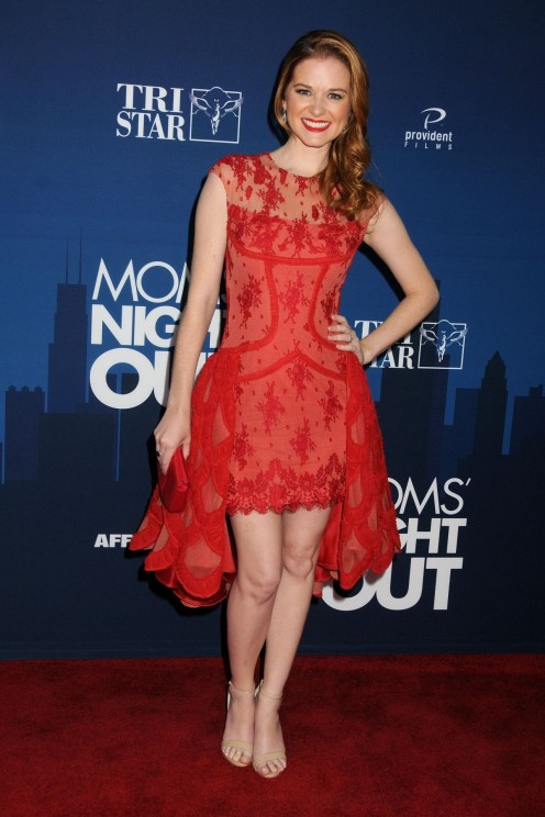 Sarah Drew At Mom Night Out Premiere In Hollywood Pregnant