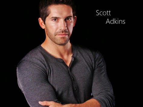 Scott Adkins Brunette Face Hair Muscles Jacket Black Background