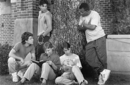 Still Of Sean Astin Wil Wheaton Keith Coogan George Perez And Te Russell In Toy Soldiers Large Picture Toy Soldiers