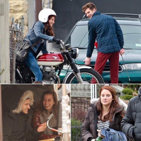 Andrew Garfield Filming Amazing Spider Man Pictures Mary Jane