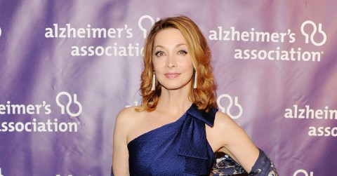 Sharon Lawrence Looked Lovely Purple