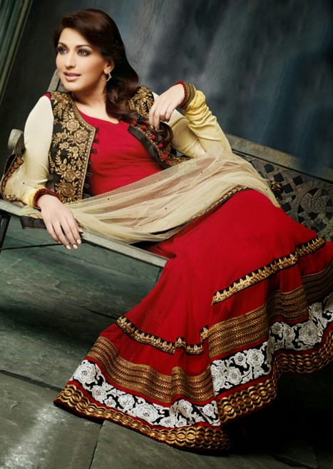 Sonali Bendre In Bollywood Anarkali Suits Fashion Fist
