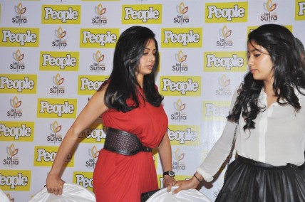 Kh Np Am Sridevi With Her Elder Daughter Jhanvi Kapoor At The Launch Of December Issue Of People Magazine In Mumbai  Family