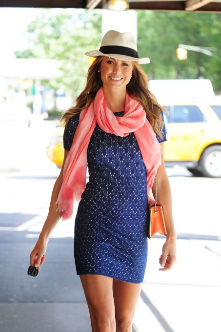 Stacy Keibler Seen Out And About In Nyc Dress
