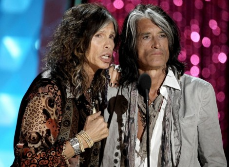 Steven Tyler And Joe Perry Present Johnny Depp With The Generation Award Movies