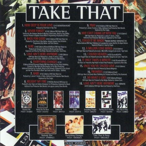 Take That Greatest Hits Interior Frontal Album