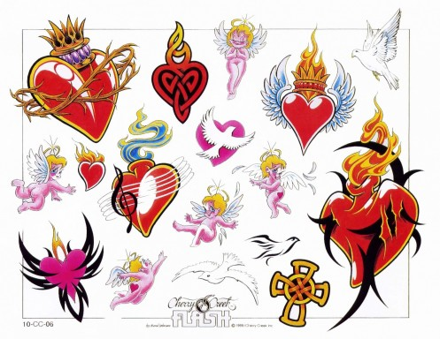 Awesome Colored Heart Tattoos Designs Heart