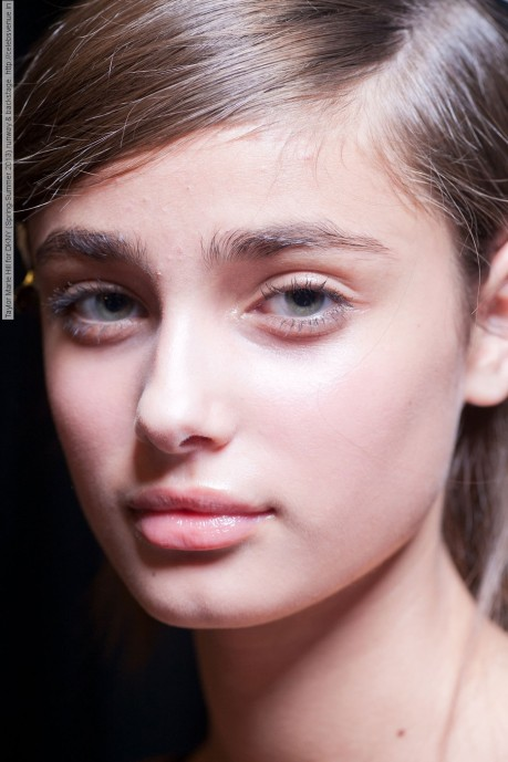 Taylor Marie Hill For Dkny Spring Summer Runway Backstage
