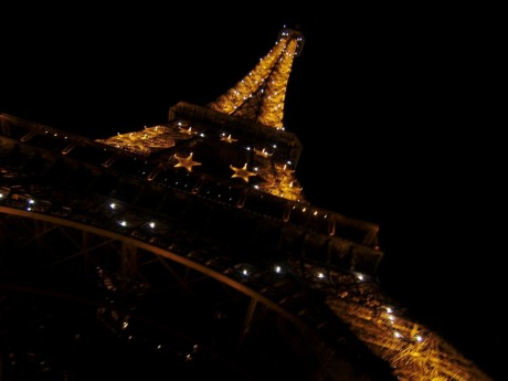 Eiffel Tower By Night Paris France Europe At Night
