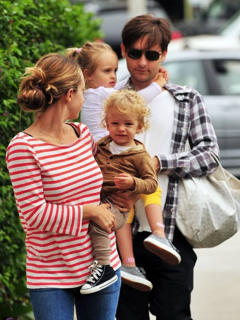 Tobey Maguire And His Wife Jen