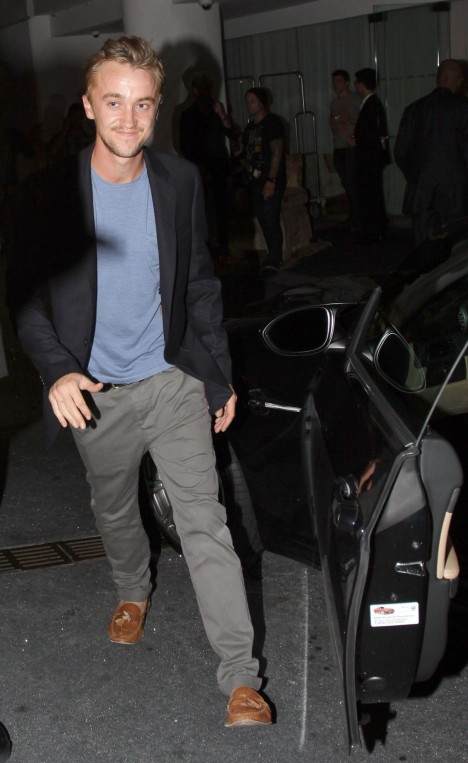 Tom Felton Grey Pants Light Bl