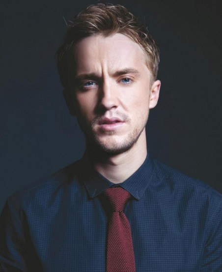 Tom Felton Son Look Pour Da Man Loin De Drago Image Article Ajust Harry Potter